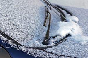 Schnee und Eis Windschutzschieie